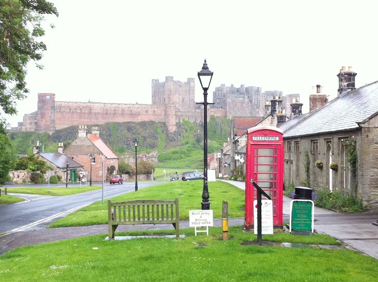 Bamburgh Castle & village