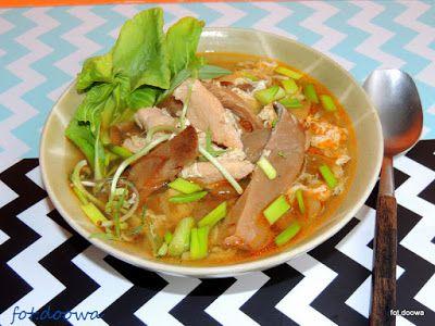 Moje Małe Czarowanie: Zupa chińska z pac choi, boczniakami i jajem