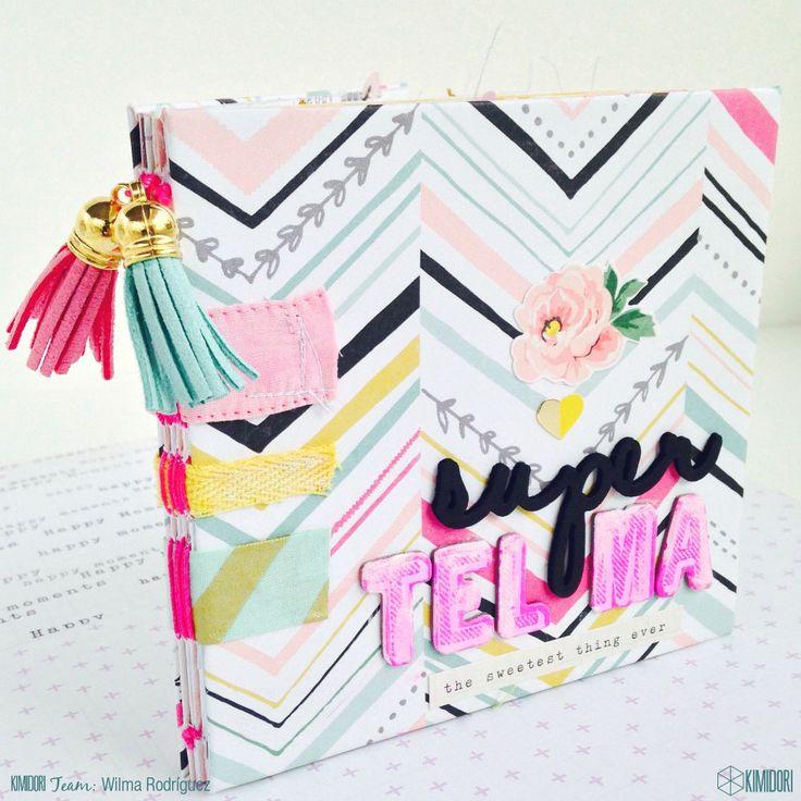 Mini álbum y sobre origami con la Colección Bloom