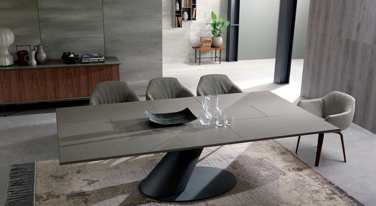 Ozzio Italia Thor Extendable Dining Table Dining Room Sklar Furnishings Dining Table Extendable Dining Table Dining Room Table