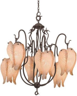 Art Nouveau ceiling lamp- reminiscent of my fav perennial plant, the Bleeding Heart.