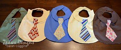 """Shirt & Tie bibs for baby boys...adorable!"""