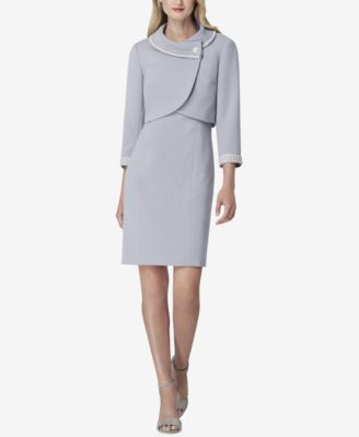 Envelope Collar Dress Suit  | macys.com