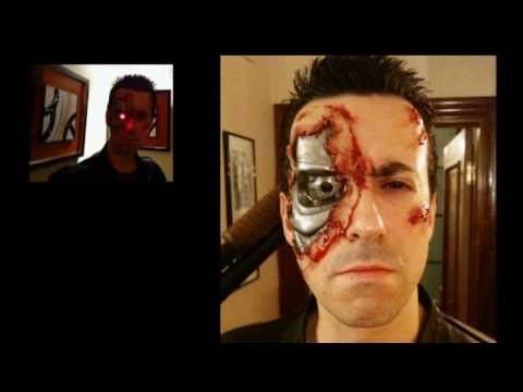 ▶ Terminator Costume makeup with light