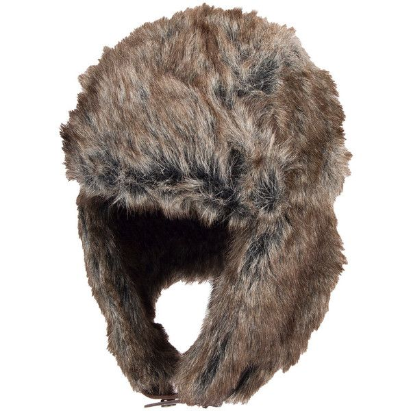 Men's Dockers® Faux-Fur Trapper Hat ($16) ❤ liked on Polyvore featuring men's fashion, men's accessories, men's hats, dark grey, mens earflap hat, mens trapper hat, mens ear flap hats and mens hats