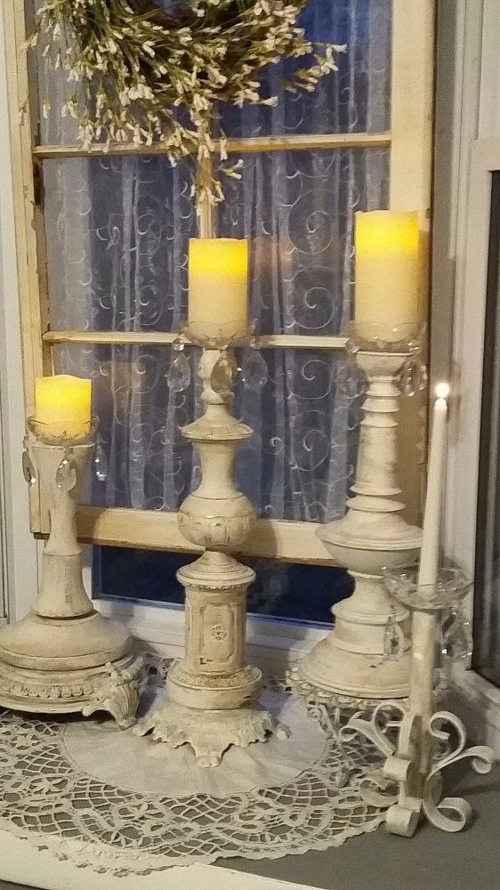 Old Lamps to Candlesticks♡ mix and match pieces from old lamps.