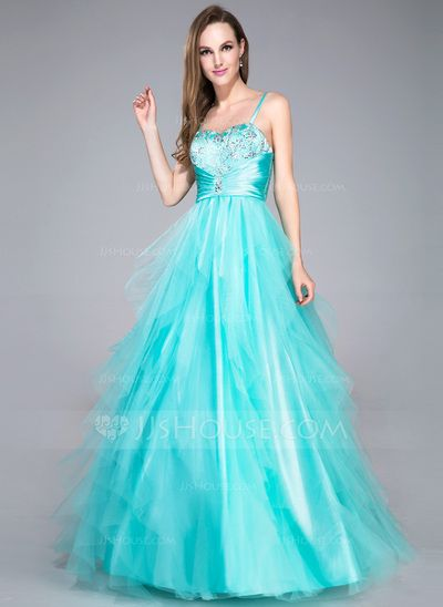 Prom Dresses - $164.99 - Ball-Gown Sweetheart Floor-Length Tulle Charmeuse Prom Dress With Beading Sequins Cascading Ruffles (018042716) http://jjshouse.com/Ball-Gown-Sweetheart-Floor-Length-Tulle-Charmeuse-Prom-Dress-With-Beading-Sequins-Cascading-Ruffles-018042716-g42716?no_banner=1&utm_source=facebook&utm_medium=post&utm_campaign=6005941673279&utm_content=140411_30