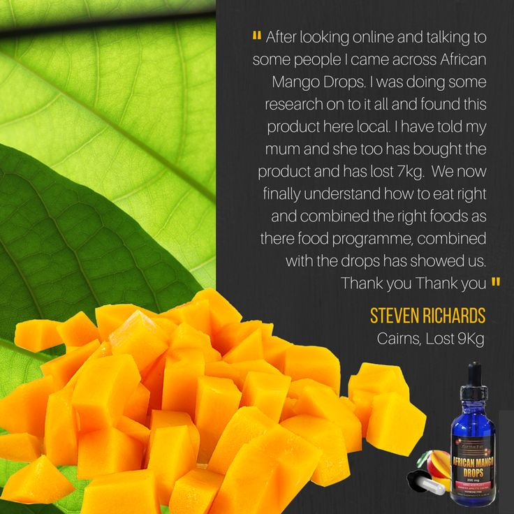 """""""After looking online and talking to some people I came across African Mango Drops.I was doing some research on to it all and found this product here local.I have told my mum and she too has bought the product and has lost 7kg.We now finally understand how to eat right and combined the right foods as there #foodprogramme,combined with the drops has showed us.Thank you Thank you""""-Steven Richards,Cairns who lost 9kg.Learn about African Mango Drops:https://africanmangodrops.com"""