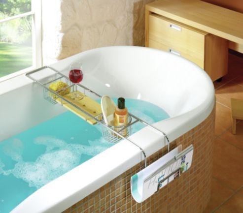 nicol honoratha bath tub rack in chrome bath shower storage pinterest bath tubs tubs. Black Bedroom Furniture Sets. Home Design Ideas
