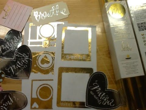 Using a Glue Pen to Apply Foil to Embellishments and Using your Anna Griffin Minc with your Explorer - YouTube