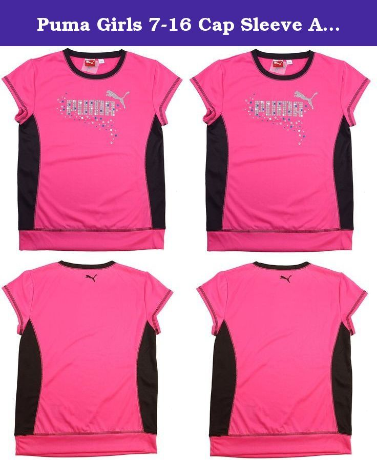 Puma Girls 7-16 Cap Sleeve Athletic Top, Size 7/8 Pink PACKAGE OF 2. Really cute, good for all occasions, and general wearing around. These are really comfortable and kids love them. Keep both or have your child give one as a gift to a good friend.