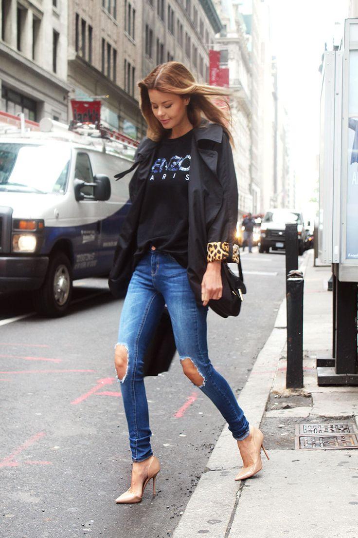Nettenestea annette haga new york outfit kenzo genser ysl jakke antrekk mote blogg