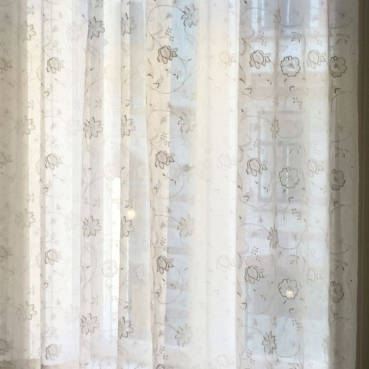 By Alegni.com - Stores in embroidered voile by Colefax & Fowler