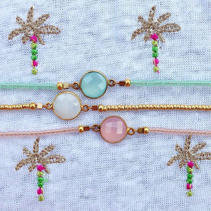 Luna Blau gemstone bracelets  on Marie Sixtine Fox Tank Top - find it all at www.donttell.dk