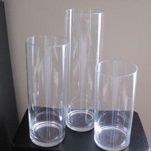Clear Cylinder Vases Bulk