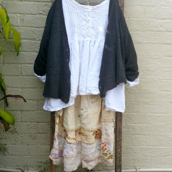 Prairie Linen Shirt Oversized to Fit Most by MegbyDesign on Etsy, $265.00