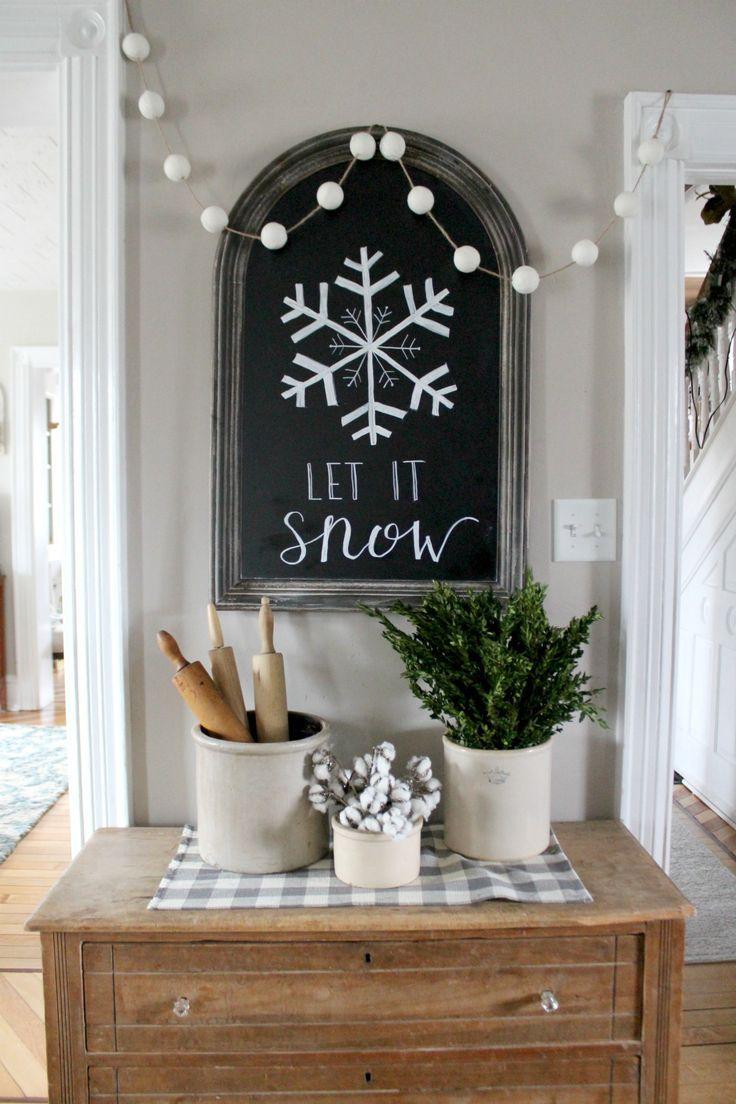 Farmhouse winter touches 669 best Farmhouse Decorating