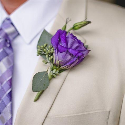 lavender boutonniere-#22