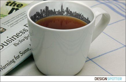 New York Skyline Cup by Anatoliy Omelchenko