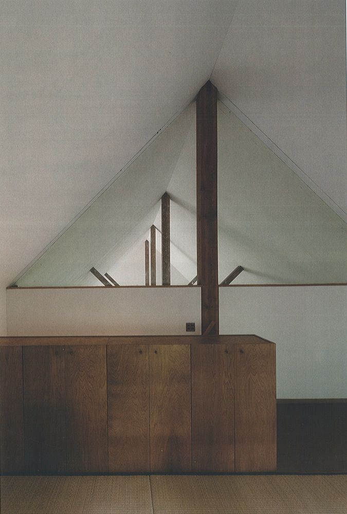 Kazuo Shinohara. Tanigawa House. Exposed timber structure. timber joinery.