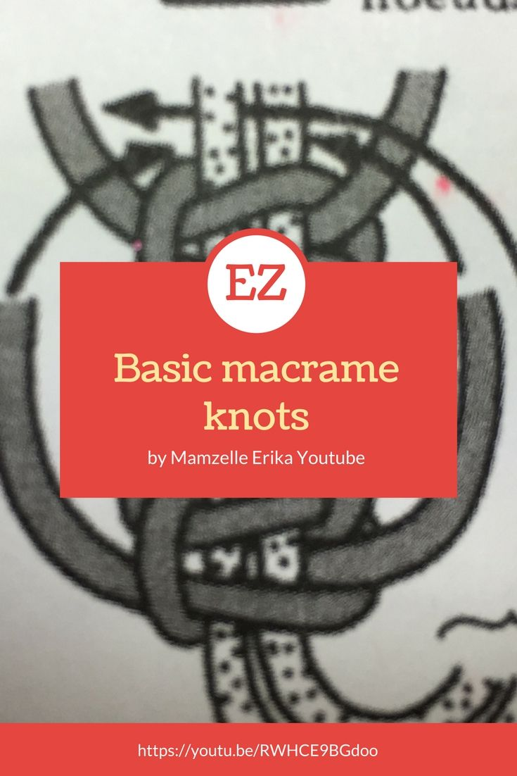 Basic macrame knot  Noeud de base macrame  Chaine youtube Threads Passion Abonnez vous !! Subscribe!!!