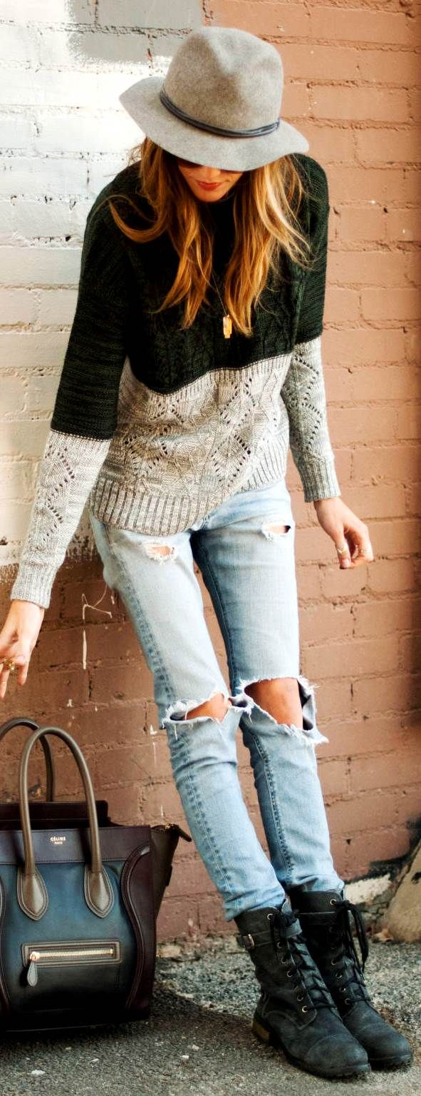 Katie Cassidy: Jeans by Rag&Bone, Sweater by Scoop