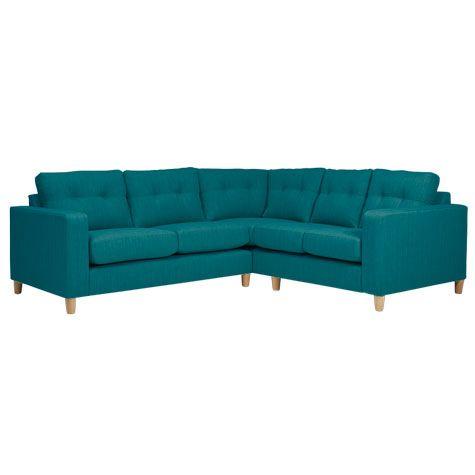 Metro 2 Piece Sectional Fabric Corner Sofa, Teal | Costco UK -
