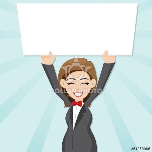 https://cz.dollarphotoclub.com/stock-photo/cartoon businesswoman with blank board/64868065 Dollar Photo Club miliony kvalitních obrázků za 1$ za každý