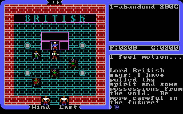 Origin Systems released Ultima 4: Quest of the Avatar in the year 1985; it's an old fantasy rpg game, part of the Ultima series.