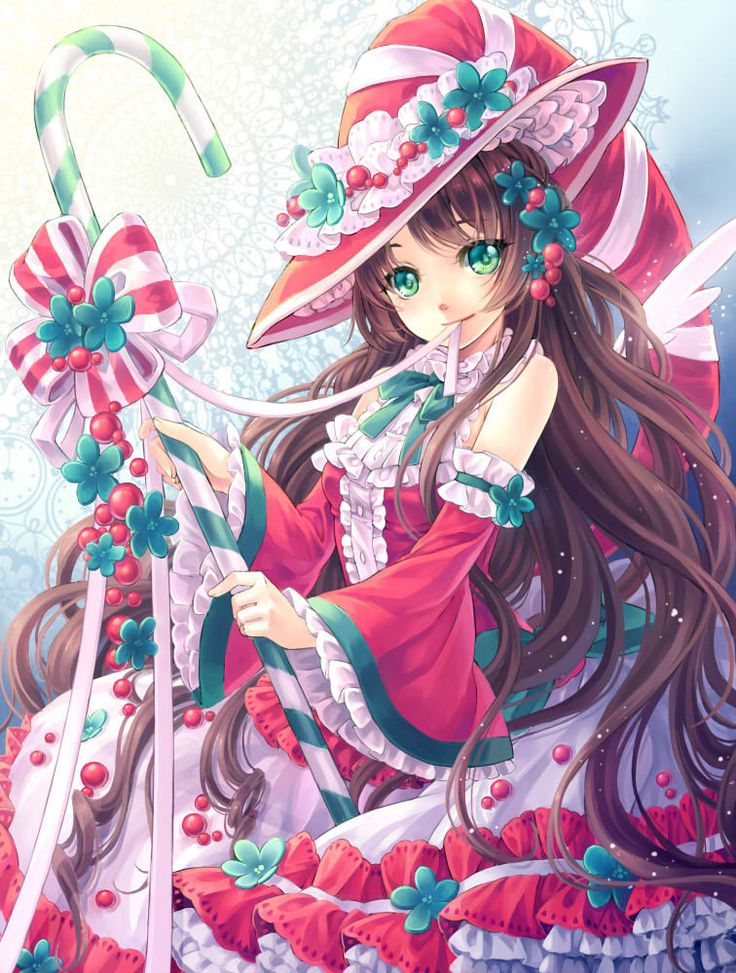 17 best images about anime wallpapers that are 5 stars - Anime girl christmas wallpaper ...