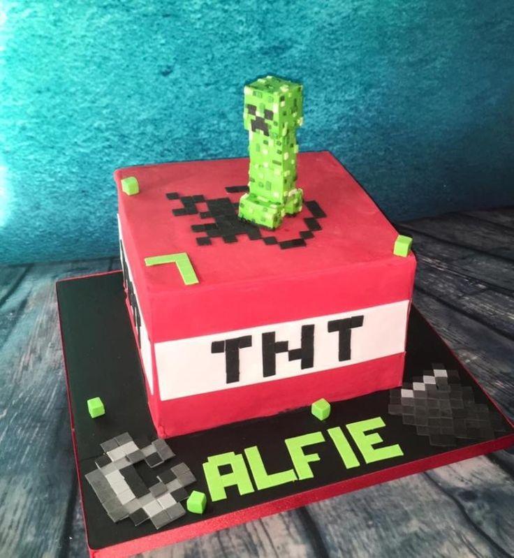 Minecraft TNT cake by Meme's Cakes