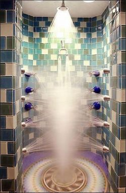 Crazy awesome #shower ...inspiration to work HARD ENOUGH FOR THIS SHOWER IN MY HOME. LOL