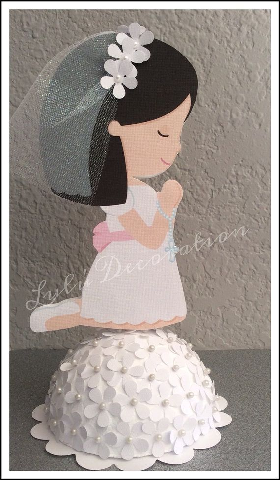 First Communion centerpiece by LuluDecorations on Etsy