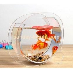 China Transparent acrylic round fish tank FTK-017 on sale