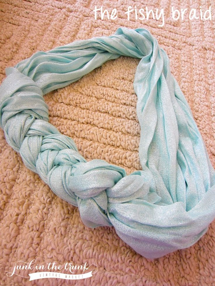 Scarf Tying 101: the Fishy Braid || Junk in the Trunk Vintage Markets