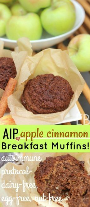 AIP Apple Cinnamon Breakfast Muffins {egg-free, dairy-free, nut-free~ autoimmune protocol!)