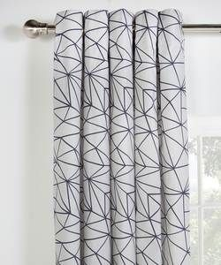HOME Fractured Unlined Eyelet Curtains - 117x137cm.