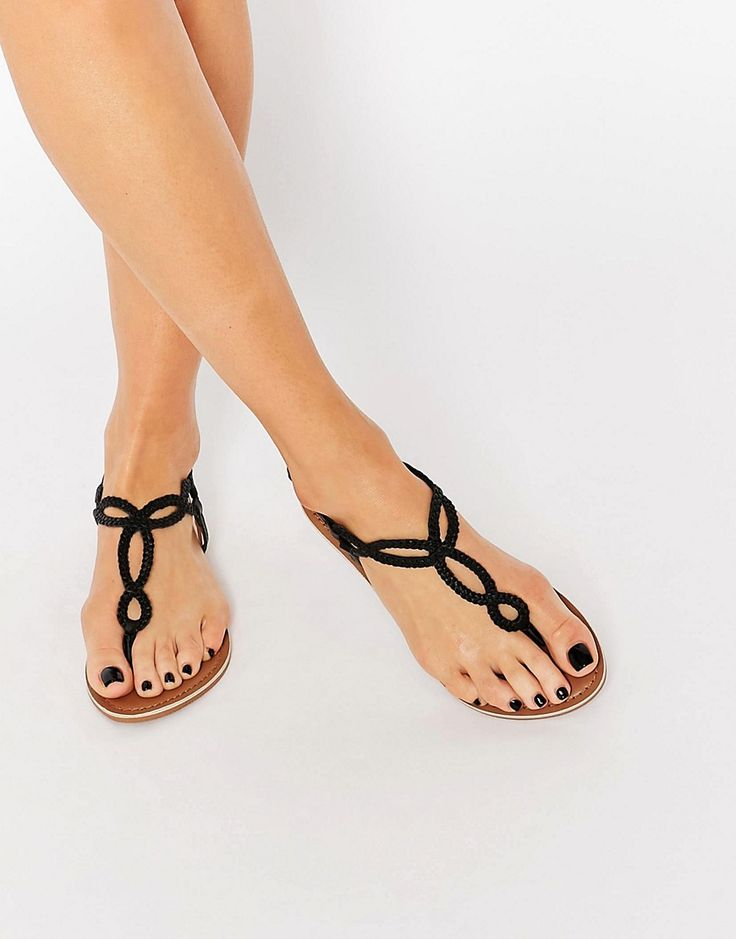 Image 1 of New Look Leather Braid Sandal