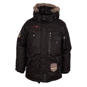 Smart vinterjakke i sort med grå detaljer fra D-XEL - model Bart Jacket