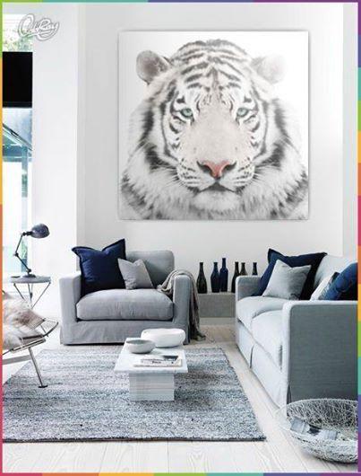 Tygrys biały należy do bardzo rzadkich drapieżników. Możesz go mieć w swoim salonie. W salonie Z PAZUREM! :D #tiger #home #design #coloray #canvas
