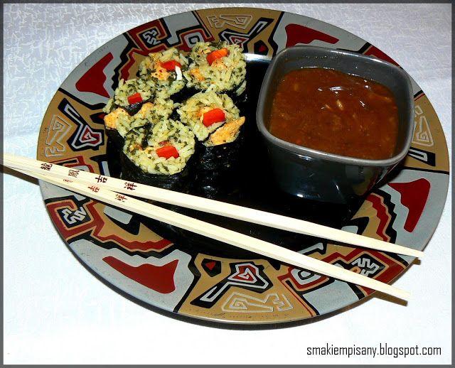 Smakiem Pisany: apetyczny, aromatyczny, kulinarny BLOG!: Sushi z piersi z kurczaka i sos orientalny
