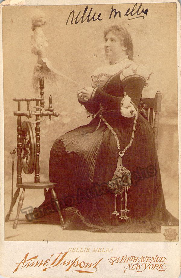 Melba, Nellie - Signed Cabinet Photo in Faust