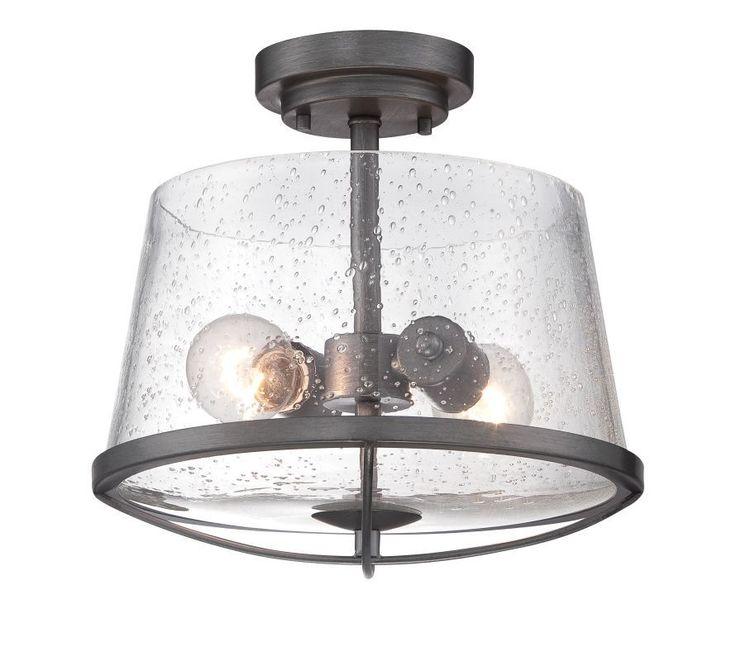Designers Fountain 87011 Darby 2 Light Semi-Flush Ceiling Fixture Weathered Iron Indoor Lighting Ceiling Fixtures Semi-Flush