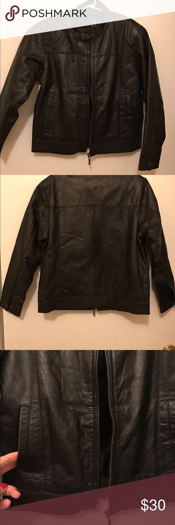 Leather jacket size 18 - Boys Leather Jacket