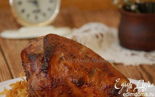 Голень индейки, запеченная в пряном маринаде  | Кулинарные рецепты от «Едим дома!»
