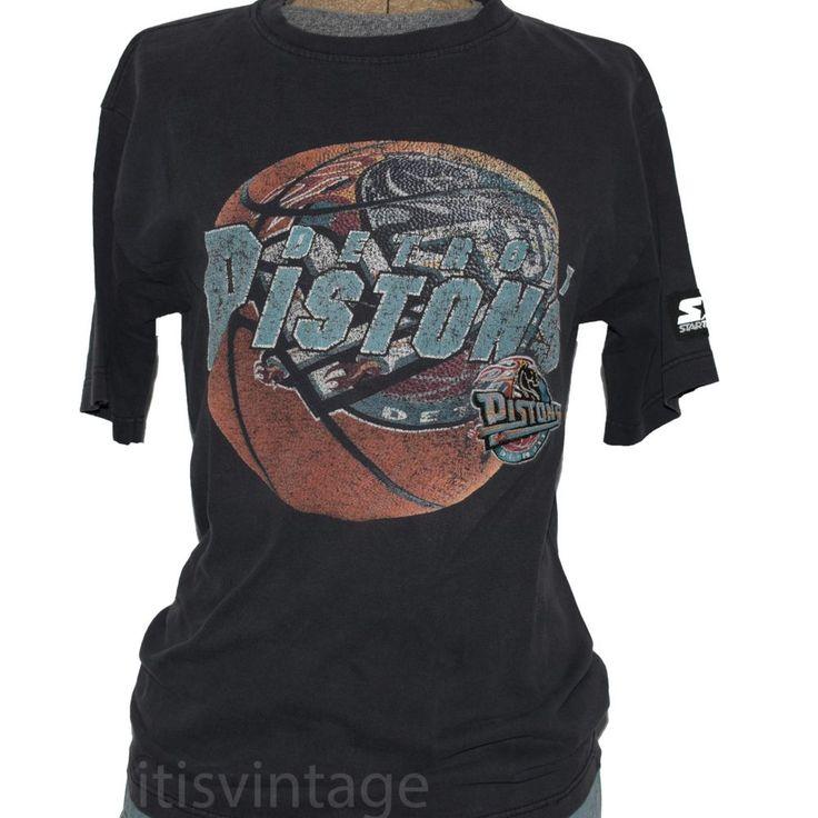 Vintage Ex-Boyfriend Tee Detroit Pistons Basketball 90's NBA Starter Shirt Small