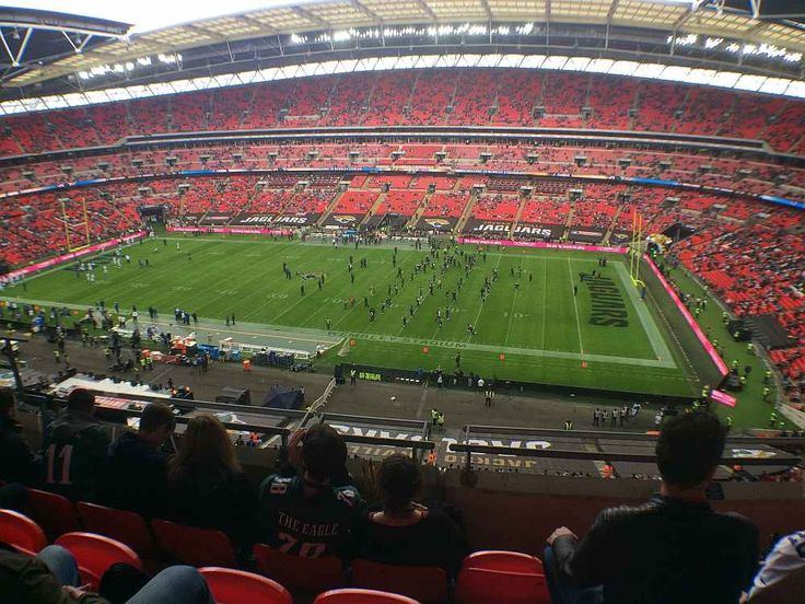 My NFL London 2016 Wembley stadium seat view.