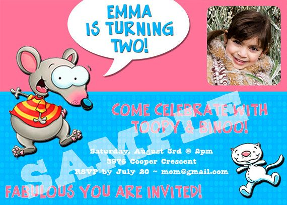 Custom Photo  Toopy & Binoo Birthday Invitation by mistyprints, $7.50