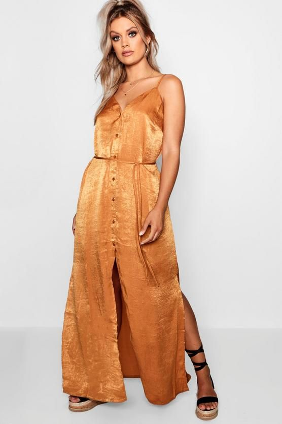 b05d136cddc Plus Button Up Maxi Dress - boohoo maxi dress