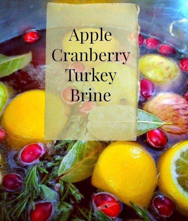 Cranberry Apple Turkey Brine Recipe, Thanksgiving recipes